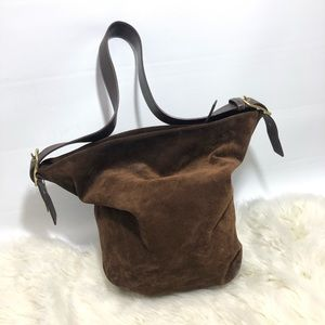 Coach • Legacy Chocolate Suede Bucket Bag
